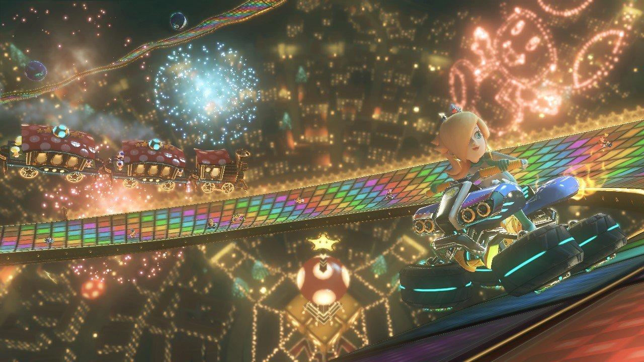 Mario Kart 8 Rainbow Road Retro