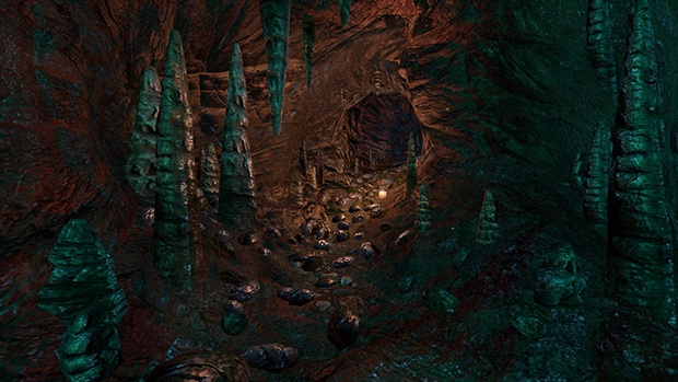 Parte dell'esperienza si svolge in una grotta
