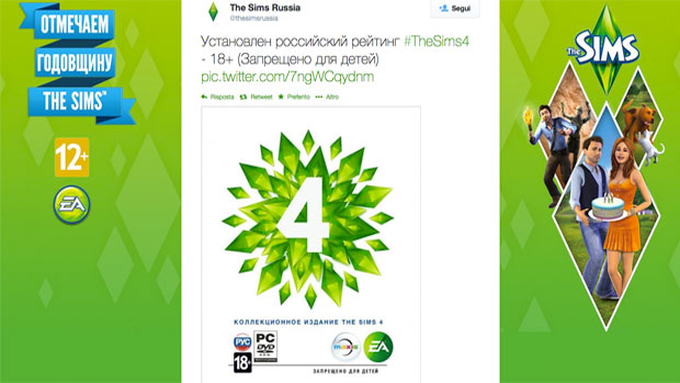 The Sims 4 Twitter Accout Russia