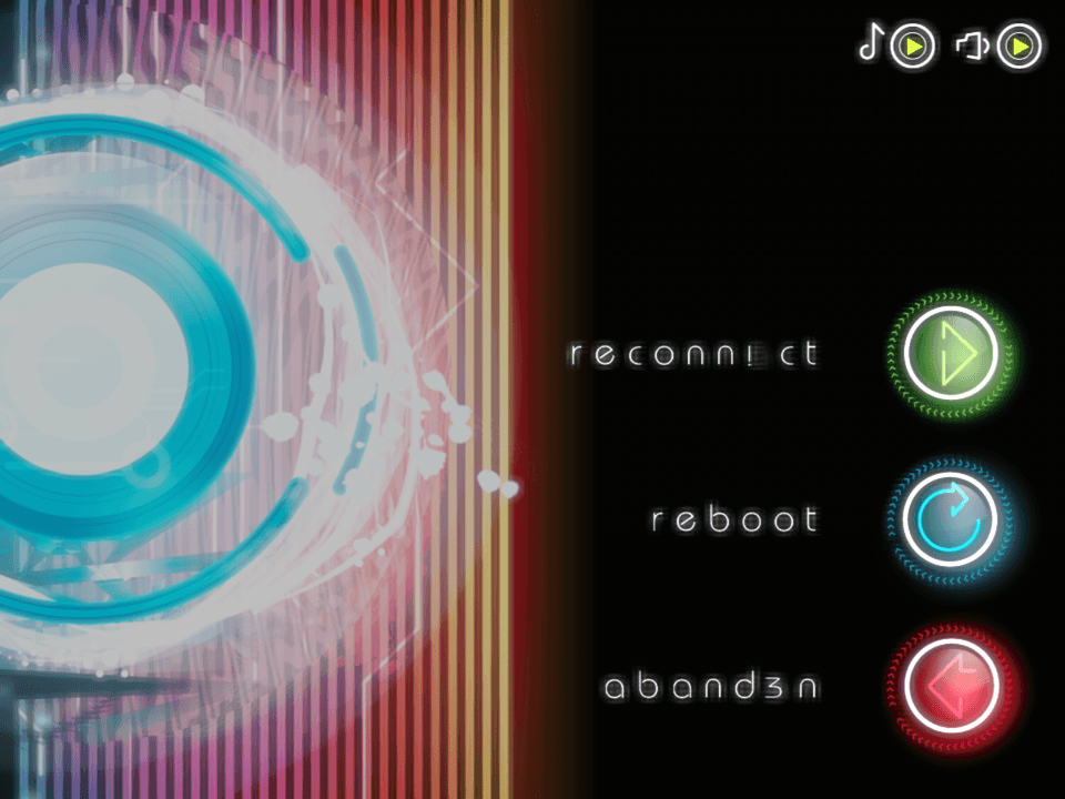 Pure il menu di pausa trasuda cyberpunk da ogni pixel.