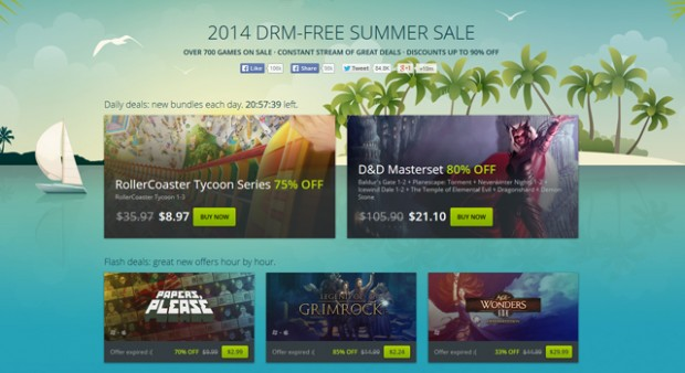 GOG - DRM free summer sale