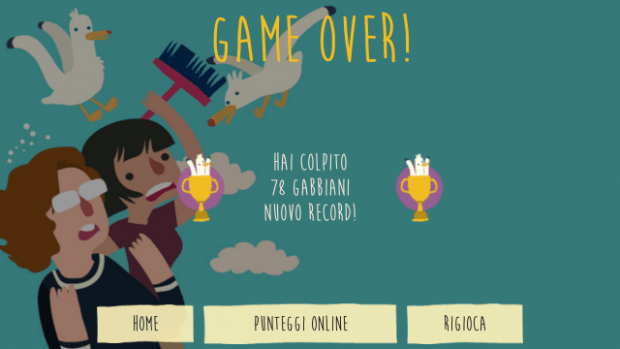 Game Over screen.