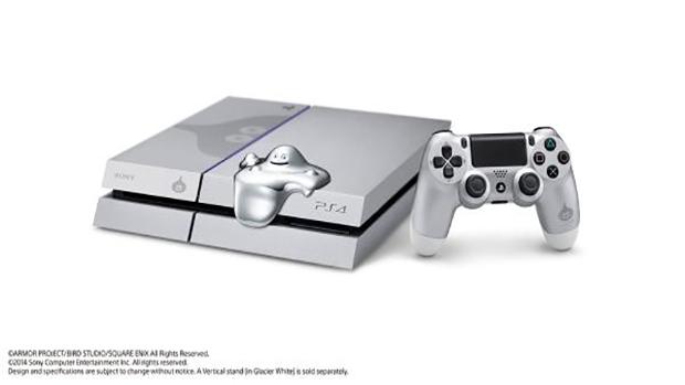 La PS4 creata per commemorare il lancio di Dragon Quest Heroes. Il fantasmino sul lato dovrebbe essere una penneta USB