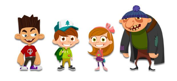 I quattro personaggi che per ora son stati presentati dagli sviluppatori