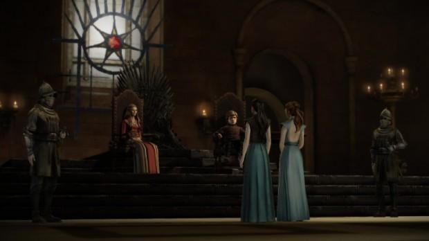 Trovarsi al cospetto di Cersei, e del Trono di Spade, è sempre intimidatorio.