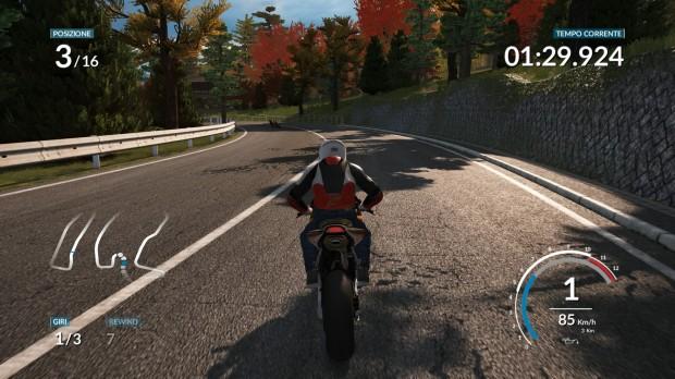 Si può controllare manualmente la postura del pilota sulla moto, ad esempio qui mi stavo esponendo fuori dalla carena perché dovevo ... cazzeggiare.