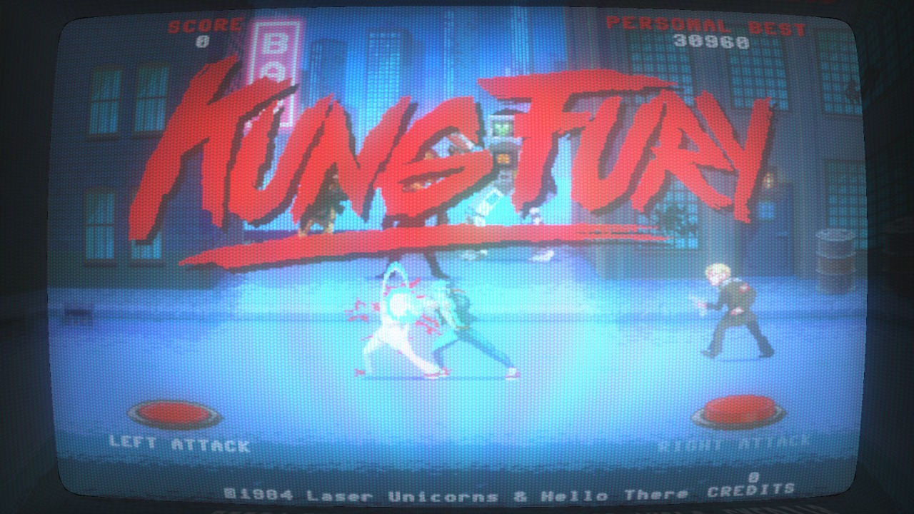 Kung Fury – Street Rage: one finger death nazi