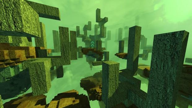 Forgiare un percorso attraverso questa foresta di blocchi è pura creatività senza freni.