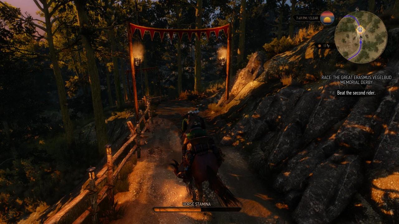 Le corse sparse per la mappa sono un ottimo modo per ottenere upgrade per l'inventario - se riuscite a tenere a bada il cavallo, s'intende.