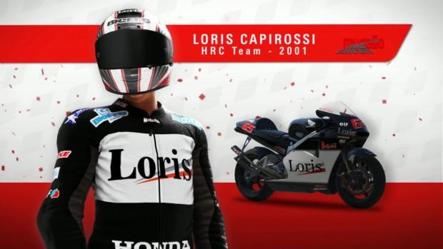 La stupenda livrea 2001 di Capirossi.