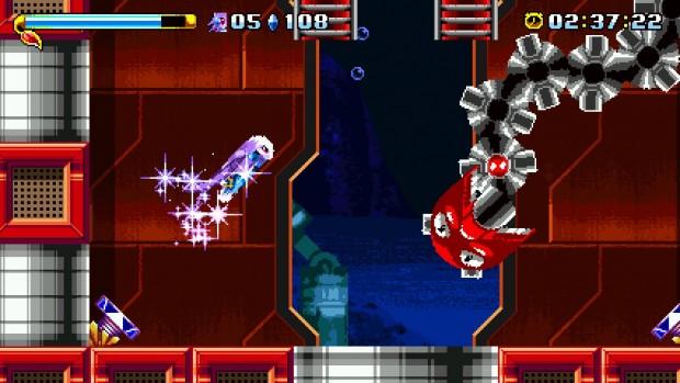 La barra blu, sopra la salute, permette di eseguire degli attacchi speciali una volta riempita. Nel caso di Lilac, una carica che danneggia i nemici al tocco.