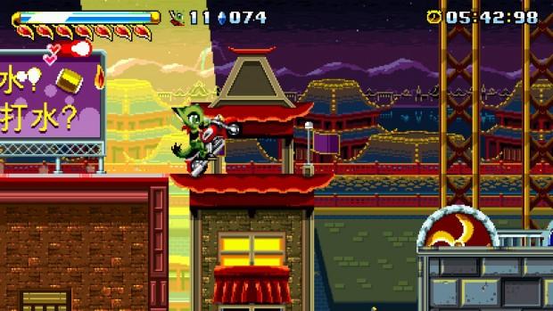 Fortune Night, nonostante l'architettura cinese, riporta alla mente più di un ricordo di Casino Night zone.