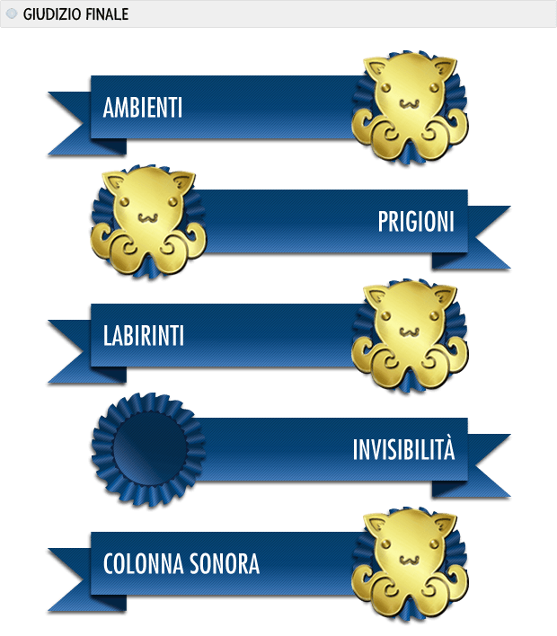 The Beginner's Guide Premi: ambienti oro, prigioni oro, labirinti oro, invisibilità invisibile, colonna sonora oro