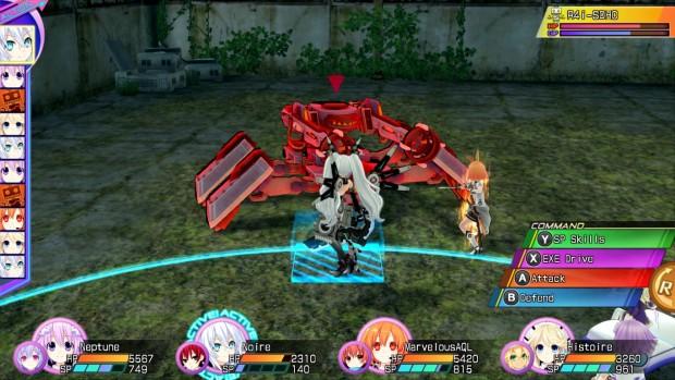 Scena di battaglia tra le nostre quattro e il robot R4i-SDHC.