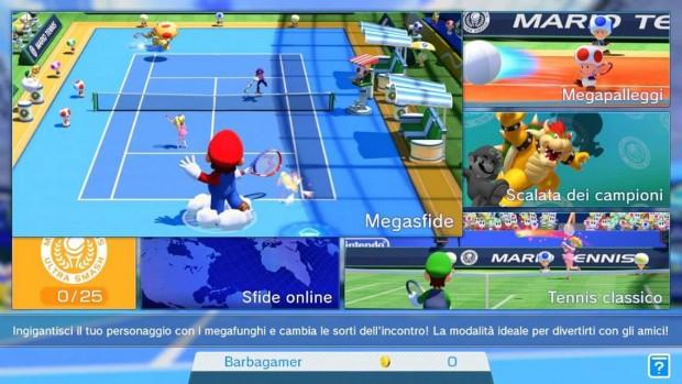 Il menu principale: una grande area in alto a sinistra che occupa 2/3 dello schermo e poi dei riquadri con le altre opzioni.