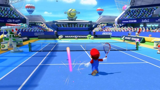Mario respinge un colpo.
