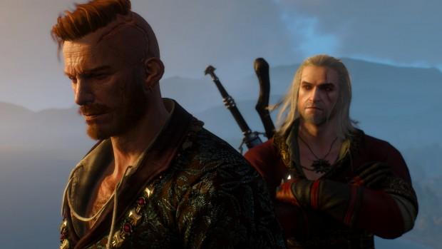 Olgierd von Everec ritratto davanti a Geralt.