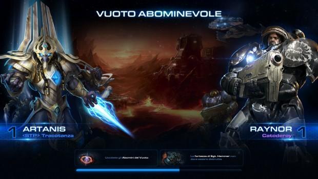 Artanis e Raynor in Vuoto Abominevole, schermata.