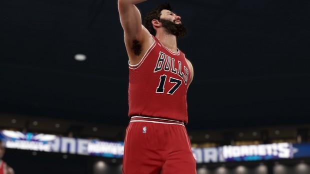 il mio personaggio con la casacca numero 17 dei Bulls.