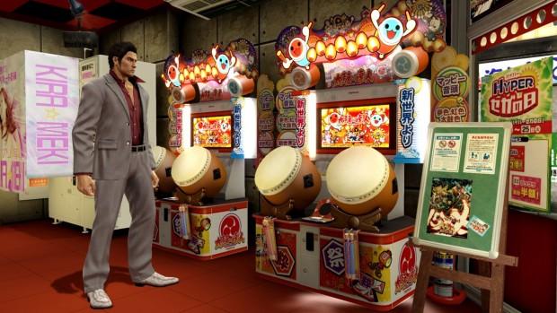 Vedete quel cabinato di Taiko no Tatsujin? È giocabile.