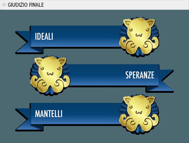 helldivers premi: ideali oro, speranze oro, mantelli oro.