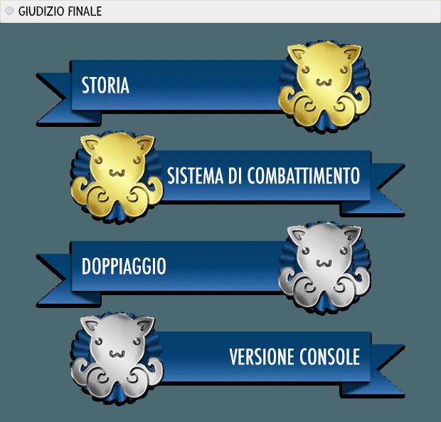 DIVINITY Premi: storia oro, sistema di combattimento oro, doppiaggio argento, versione console argento.