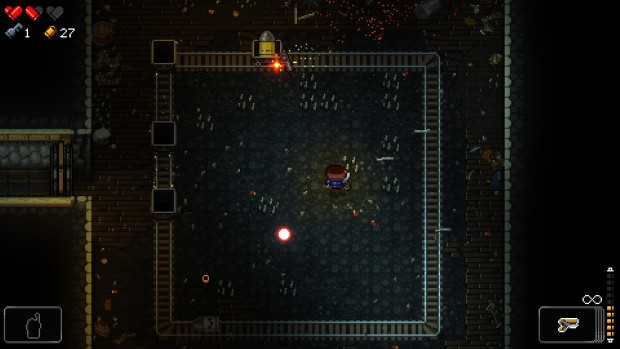 Ovviamente nel livello in miniera si possono usare i carrellini. Ed è uno spasso.