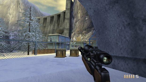 No, non è un'immagine da un emulatore, è un vero port dei primi due livelli di TimeSplitters 2.