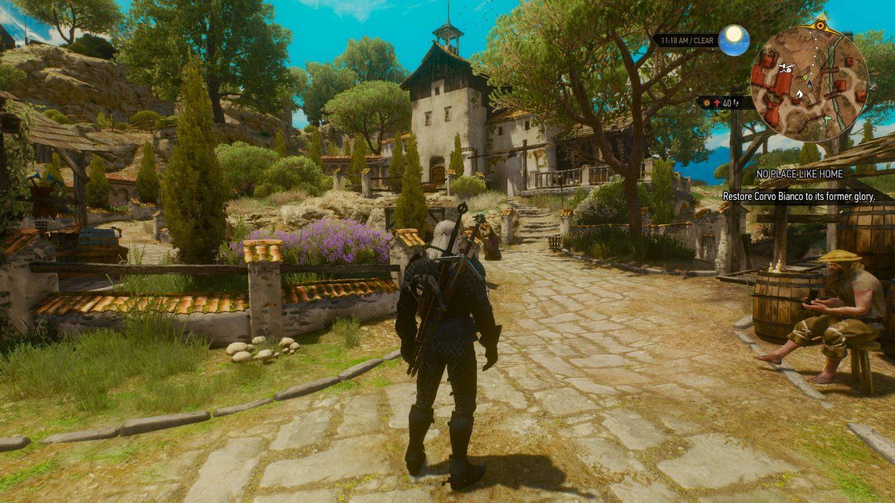 La villa di Corvo Bianco può sembrare un'immondezzaio, ma è un'immondezzaio a cui ci si affeziona.