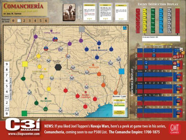Comancherìa: la mappa di gioco