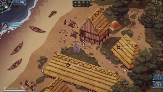 La schermata del villaggio