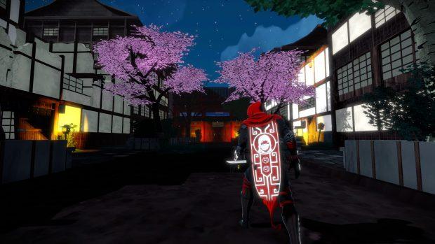 Il mantello dell'Aragami è anche l'interfaccia del gioco. Indica quanta Essenza d'Ombra abbiamo, quale potere abbiamo selezionato e quante cariche ci restano.