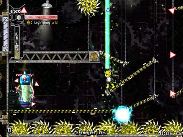 Ad esempio, in questo livello basta distruggere questi tre generatori, ma l'intero livello è un enorme percorso ad ostacoli fino ad essi.
