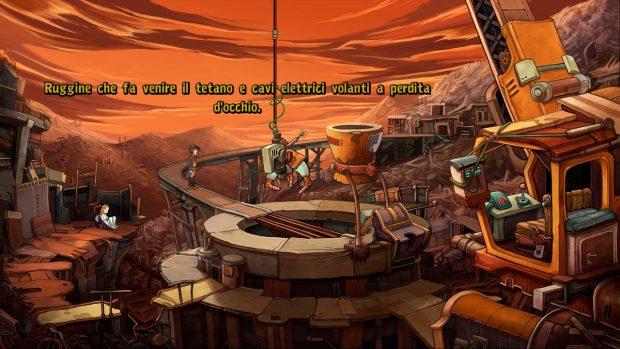 Una calzante descrizione, visiva e narrativa, del pianeta Deponia.
