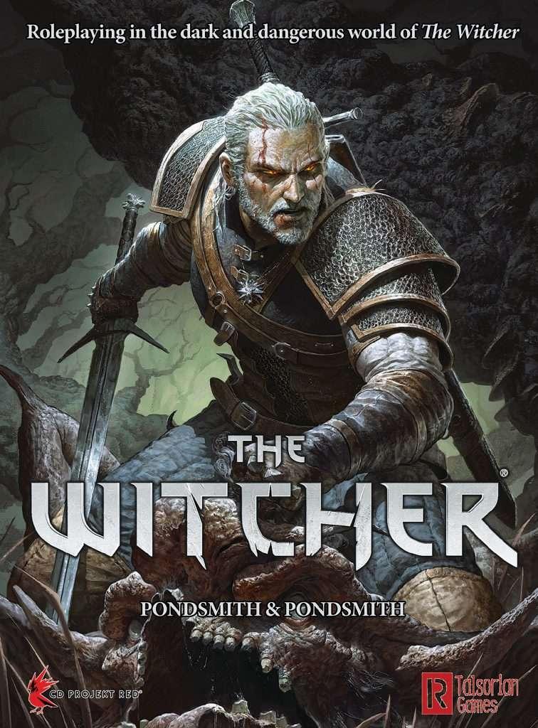 Copertina ufficiale del libro, raffigurante Geralt di Rivia che si appresta ad eliminare un Katakan