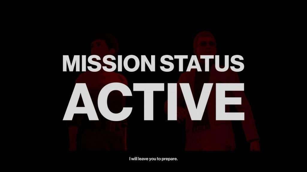 Fermo immagine del gioco Hitman 2 con didascalia sullo stato della missione