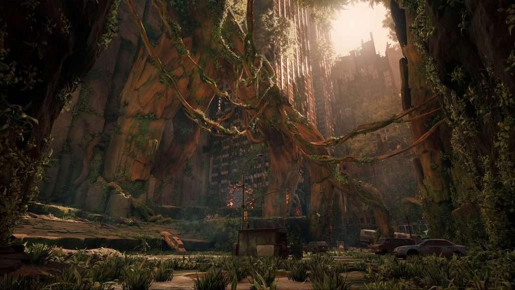Fermo immagine di un ambiente in Darksiders 3