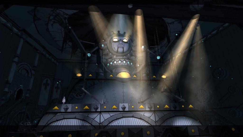 Una scena visivamente potente del teatro