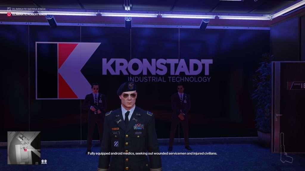 L'Agente 47 travestito da generale dell'Esercito Americano.