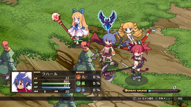 laharl etna flonne al primo stage del gioco