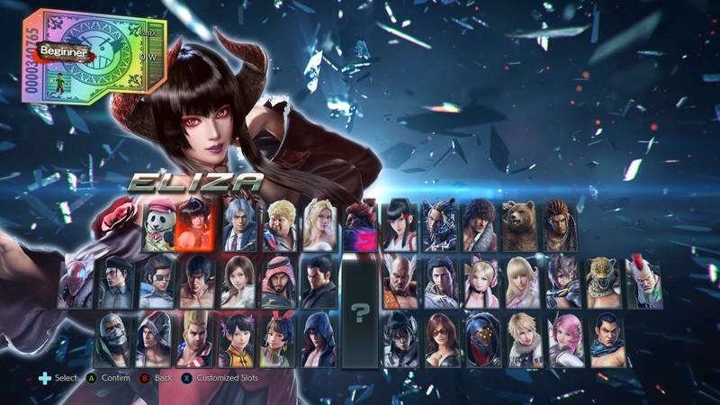 Roster del gioco