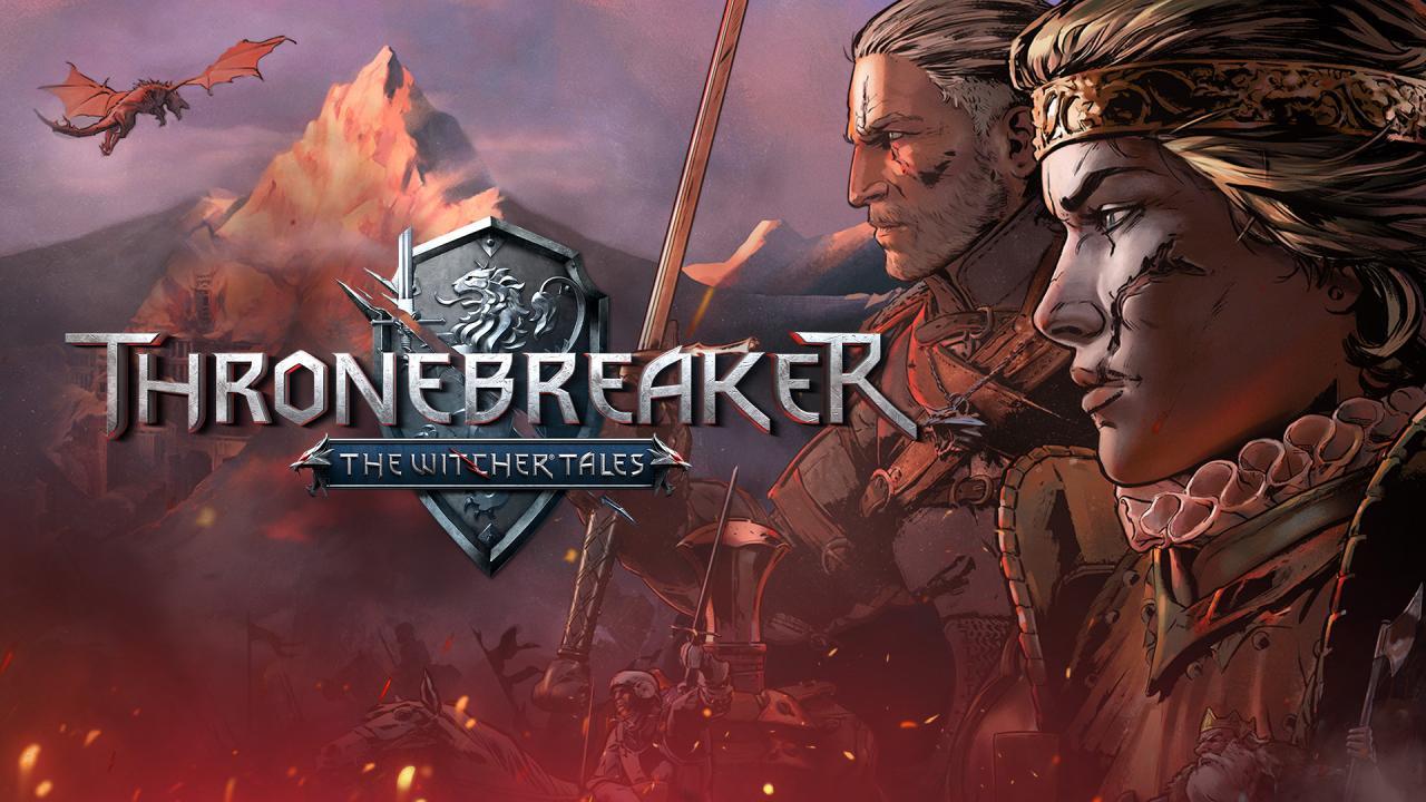 Logo di Thronebreaker: The Witcher Tale con i volti di Geralt di Rivia e della regina Meve.