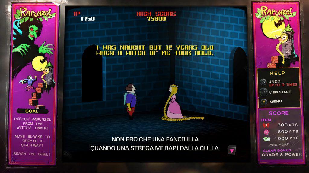 Schermata del gioco Raperonzolo all'interno dello Stray Sheep Bar