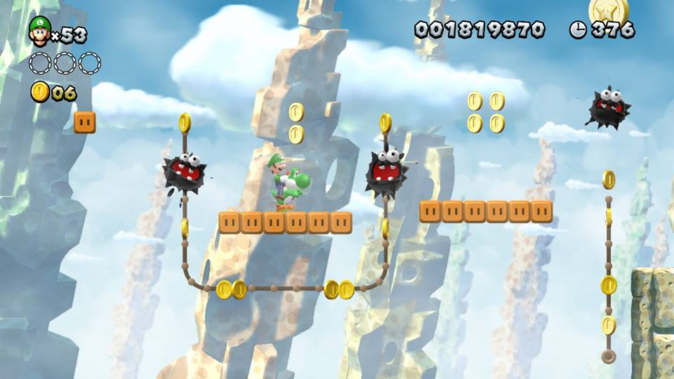 Yoshi e Luigi tra le piattaforme