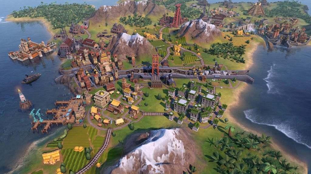 Immagine di Civilization VI: Gathering Storm che mostra un canale marittimo.