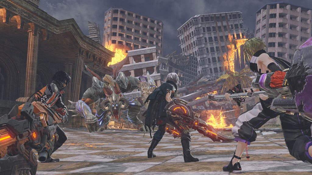 I God Eater combattono un Aragami