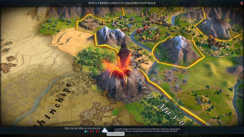 Un eruzione in Civilization VI: Gathering Storm