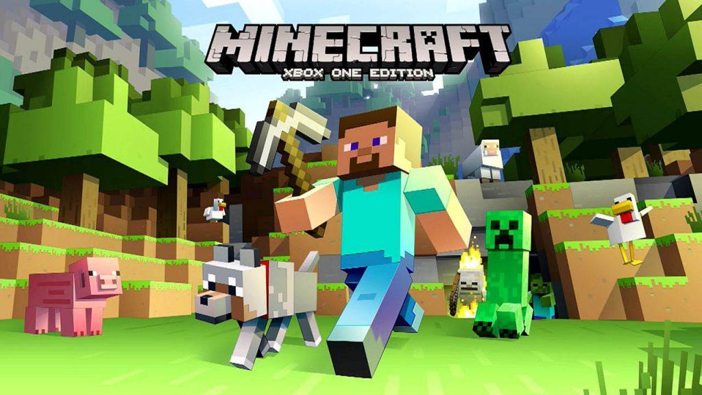 Immagine di copertina di Minecraft per Xbox One.