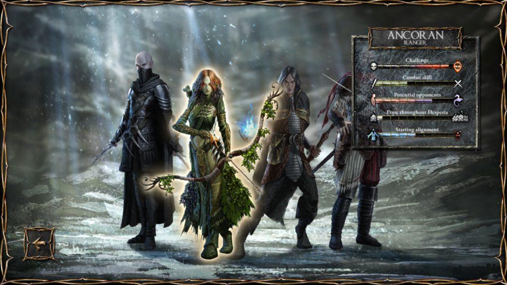I quattro personaggi tra cui scegliere.