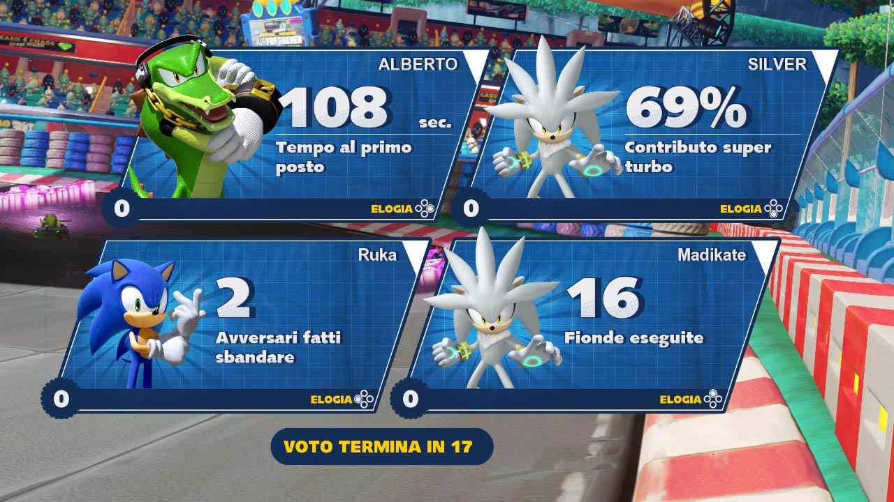 La schermata dei risultati dopo una partita multiplayer online